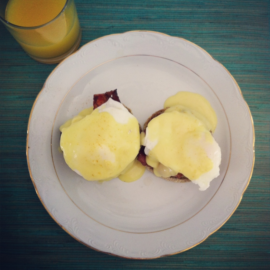 Sunday morning eggs Benny